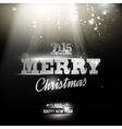Merry christmas and happy new year 2015 card vector