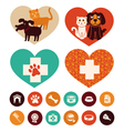 Veterinary emblems and signs vector