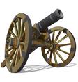 Old field gun vector