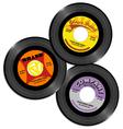Vintage 45 record label designs 2 vector