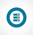 Server bold blue border circle icon vector