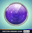 Radar icon vector