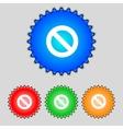 Stop sign icon prohibition symbol no sign set vector
