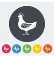 Chicken single icon vector