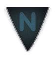 Bunting flag letter n vector