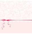 Lace background and pink ribbon vector