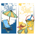 Beach card vector