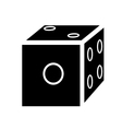 Silhouette of dice vector
