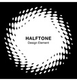 White abstract halftone design element vector