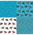 Set of winter backgrounds vector