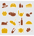 Thanksgiving stickers color set eps10 vector
