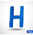 Alphabet letter h watercolor alphabet vector