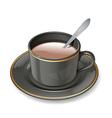 Black cup vector
