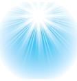 Bright shining sun vector