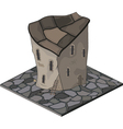 Video game object an old house vector