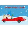 Merry christmas greeting with santa vector