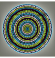 Abstract ethnic style circle vector