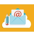 Flat design concept email write icon vector