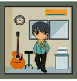 The music room vector