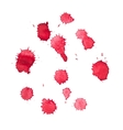 Abstract watercolor aquarelle hand drawn red blood vector