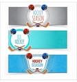 Winter sports hockey banners vector