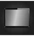 Metal plate on black background vector