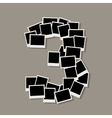 Number three photos vector