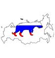 Russia tiger vector