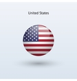 United states round flag vector