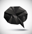 Black speech bubble geometric icon made in 3d vector