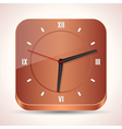 Wooden clock icon vector