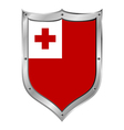 Tonga flag button vector