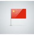 Flag of china vector