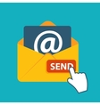 Flat design concept email send icon vector