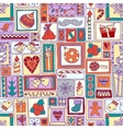 Colorful seamless christmas and new year pattern vector