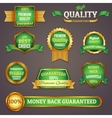 Colored quality labels set vector