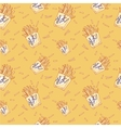 Hand drawn fast food doodle pattern vector