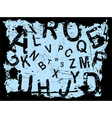 Letter grunge vector