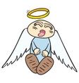 Sleeping angel vector