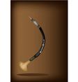 Oboe da caccia on dark brown background vector