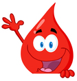 Blood guy waving over a blank sign vector