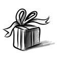 Present box cartoon doodle sketch vector