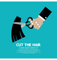Cut the hair vector