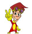 Cartoon character cheerful guy vector
