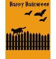 Halloween postcard vector