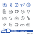 Office business outline series vector