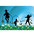 Children meadow vector