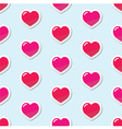 Seamless heart love background pattern vector