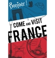 France travel invitation poster vector