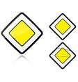 Road sign vector